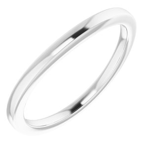 Sterling Silver Band for 8x6 mm Oval Ring