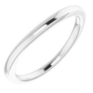 Sterling Silver Band for 6.5 mm Round Ring