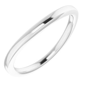 Sterling Silver Band for 12x10 mm Oval Ring