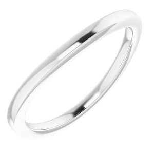 Sterling Silver Band for 12x10 mm Emerald Ring