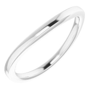 Sterling Silver Band for 5.5 mm Square Ring