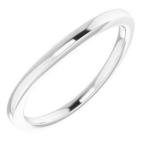 Sterling Silver Band for 11x9 mm Oval Ring