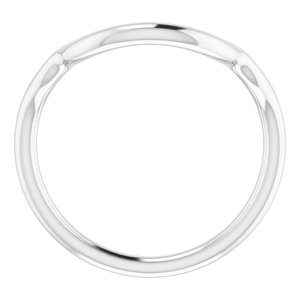 Sterling Silver Band for 15 mm Round Ring