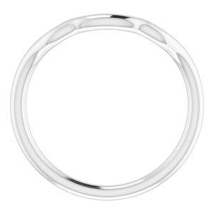 Sterling Silver Band for 6 mm Cushion Ring