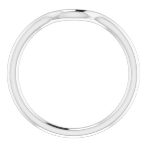 Sterling Silver Band for 12 mm Round Ring