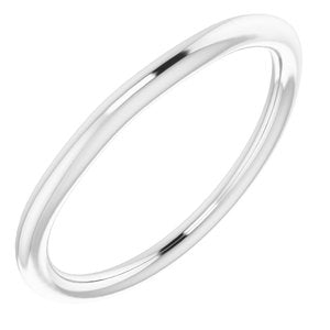 Sterling Silver Band for 8 mm Square Ring