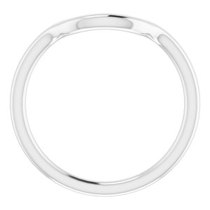 Sterling Silver Band for 10 mm Round Ring