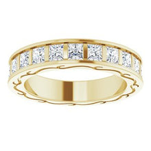 Load image into Gallery viewer, 14K Yellow 2 1/6 CTW Diamond Square Eternity Band Size 5