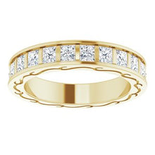 Load image into Gallery viewer, 14K Yellow 2 1/4 CTW Diamond Square Eternity Band Size 6