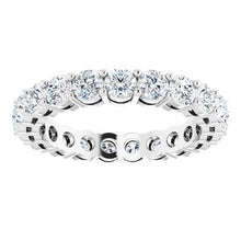 Load image into Gallery viewer, Platinum 2 1/8 CTW Diamond Eternity Band Size 6.5
