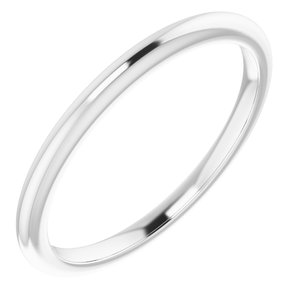 Sterling Silver Band for 6.5 mm Square Ring