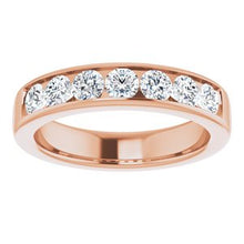 Load image into Gallery viewer, 14K Rose 1 3/8 CTW Diamond Band