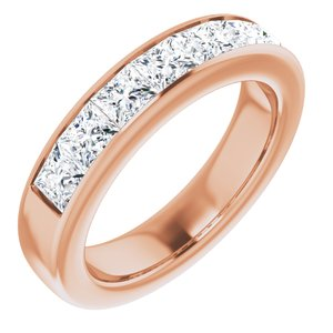 14K Rose 2 3/4 CTW Diamond Band