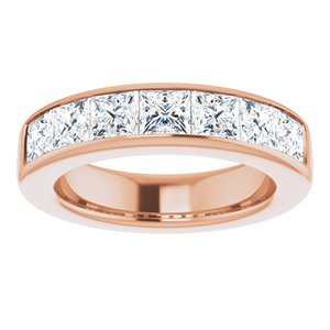 14K Rose 3 3/4 CTW Diamond Band