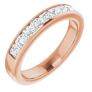 14K Rose 1 3/8 CTW Diamond Band