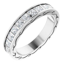 Load image into Gallery viewer, 14K White  2 1/3 CTW Diamond Square Band Size 7