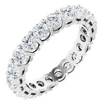 Load image into Gallery viewer, Platinum 2 CTW Diamond Eternity Band Size 5.5