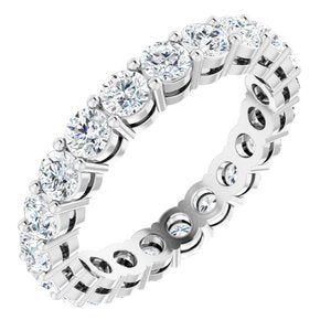 Platinum 2 1/5 CTW Diamond Eternity Band Size 7.5