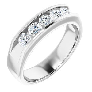 Platinum 1 CTW Diamond Band