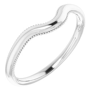 Sterling Silver Wedding Band for 6.5 mm Round Ring