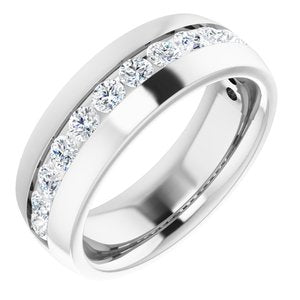 14K White 1 3/8 CTW Diamond Band