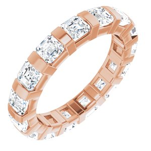 14K Rose 3/8 CTW Diamond Eternity Band