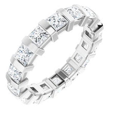 Load image into Gallery viewer, Platinum 2 1/2 CTW Diamond Eternity Band