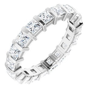 Platinum 2 CTW Diamond Eternity Band