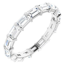 Load image into Gallery viewer, 14K White 1 1/6 CTW Diamond Eternity Band