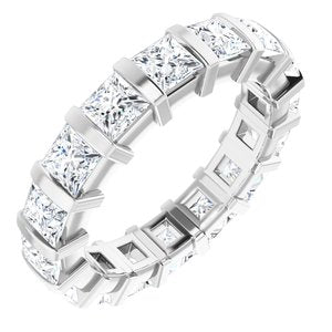 14K White 3 CTW Diamond Eternity Band