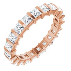 14K Rose 2 CTW Diamond Eternity Band
