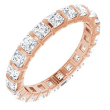 Load image into Gallery viewer, 14K Rose 2 CTW Diamond Eternity Band