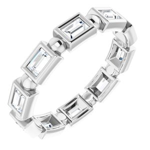 Platinum 3/4 CTW Diamond Eternity Band