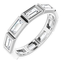 Load image into Gallery viewer, Platinum 9/10 CTW Diamond Eternity Band