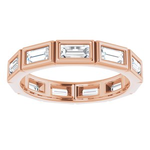 14K Rose 1 CTW Diamond Eternity Band