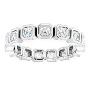 14K White 1 1/2 CTW Diamond Eternity Band
