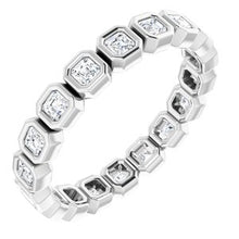 Load image into Gallery viewer, Bezel-Set Eternity Band