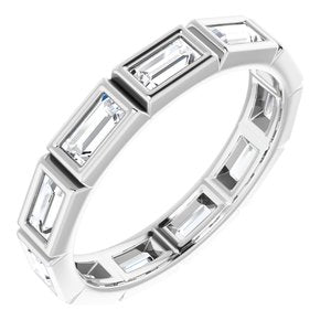 Platinum 1 CTW Diamond Eternity Band