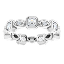 Load image into Gallery viewer, Platinum 1 1/4 CTW Diamond Eternity Band