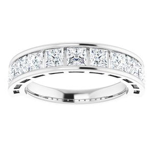 Platinum 1 3/4 CTW Diamond Anniversary Band