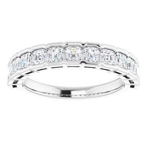 14K White 1 1/3 CTW Diamond Anniversary Band