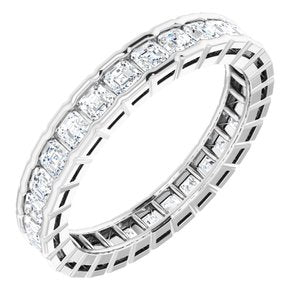 Platinum 1 3/8 CTW Diamond Eternity Band