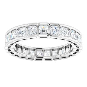 14K White 2 1/3 CTW Diamond Eternity Band