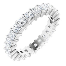 Load image into Gallery viewer, 14K White 2 1/4 CTW Diamond Square Eternity Band Size 6