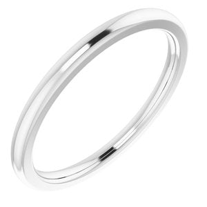 Sterling Silver Band for 10x8 mm Emerald Ring