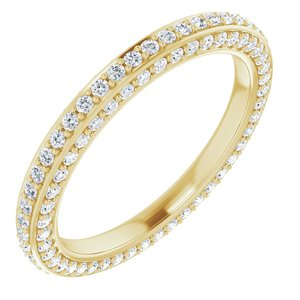 14K Yellow 3/4 CTW Diamond Eternity Band Size 5