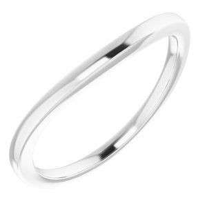 Sterling Silver Band for 7x5 mm Emerald Ring