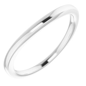 Sterling Silver Band for 8.2 mm Round Ring