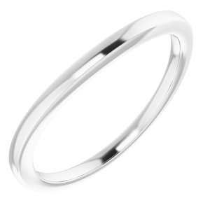 Sterling Silver Band for 8 mm Cushion Ring