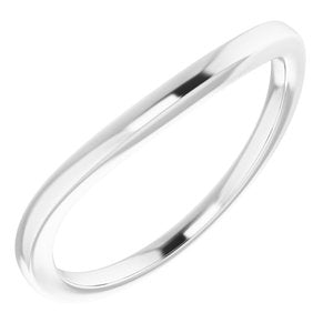 Sterling Silver Band for 10 mm Cushion Ring